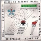 Argentina Boy Scout Scouts Olimpics 1986 Patch