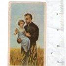 St Cayetan Cayetano Jesus Christ  Holy Card VINTAGE 1