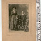 Antique Argentina Photograph Cabinet Photo Man Woman Couple  Boy People Family
