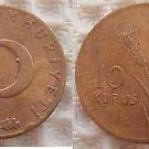 Turkey 10 Kurus 1963 Coin Coins OUTSTANDING