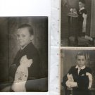 Children Girl Boy Baby Brothers Comunion Suit OLD PHOTOGRAPH PHOTO SET OF3