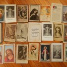 Argentina Vintage Funeral Obituary Holy Cards Jesus Christ Virgin Mary LOT OF 21