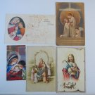 Argentina New Year Christmas Religion Greetings Postcard 5 POSTCARDS Holy card