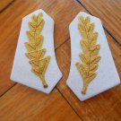 Argentina Army Navy or Police  Uniform Gold Thread Leaves Collar Badge