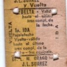 Argentina Railway Railroad Train Ticket 1957/8 #5