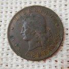 Argentina Cobre 2 Centavos 1889  Coin VERY NICE