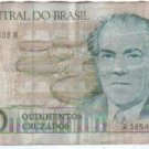 Brazil 500 Cruzados Bank Note Banknote Paper Money