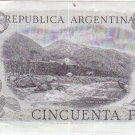 Argentina 50 Pesos Bank Note Paper Money UNCIRCULATED