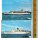 Eugenio C Enrico C Lines Liner Marine Ship Cruise Postcard LOT OF 2