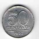 Brasil Brazil 50 Centavos 1957 EXCELLENT