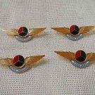 Argentina Air Force Wings Uniform Emblem Badge  Pin LOT OF 4  DIFFERENT NAMES
