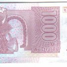 Argentina 1.000 Australes Bank Note Paper Money UNCIRCU