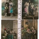 Woman Man People FOTOCELERE Children Boy Girl Photo Greeting Postcard LOT OF 4