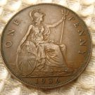 UK Great Britain George V 1936 1 Penny EXCELLENT COIN