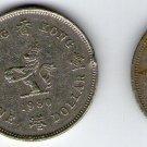 Hong Kong 1 Dollar 1980 1978 Coins 2 Coin LOT