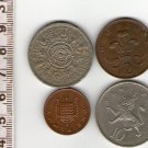 UK Great Britain 2 Shillings 1960 1 Penny 2 10 Pence Coin 4 Coins  LOT