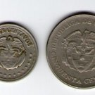 Colombia 20  50 Centavos 1959 1963  Coin 2 Coins LOT
