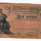 Argentina 1 PESO c1950  Bank Note Banknote Paper Money