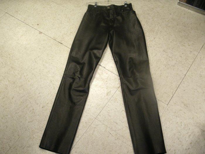 Apostrophe Black leather pants