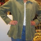 Craft & Barrow green cord button shirt