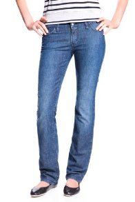 LACOSTE 5 Pocket Stretch Denim Straight Leg Jean