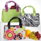 Insulated Lunch Bags in Flower Power