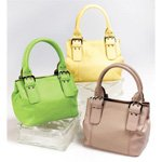 Genuine Leather Handbags in Lime