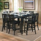 Carol 9pc Counter Height Dining Set In Black Finish