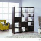 Bisect Bookcase in Wenge Finish