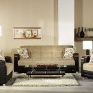 Luna Sofa Bed , Loveseat and Chair in Fulya Brown