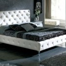 Nelly Platform Bed Queen Size Dupen Collection in White Color