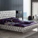 623 Lorena Platform Bed Queen Size Dupen Collection in Silver Color