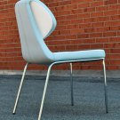 Gakko Dining Chair in White/Black White/Sky Blue or White/Red PU