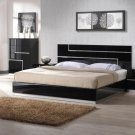 Lucca Queen Size Bed in Black Finish