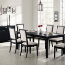101561-62 Lexton 7 pc Dining Set in Black Finish by Coaster Furniture