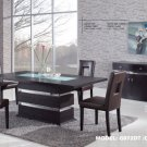 G072DT-G072DC Wenge 5pc Dinette Set with Brown Chairs by Global USA