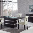 G072DT-G072DC Wenge 5pc Dinette Set with Beige Chairs by Global USA