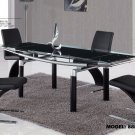 88DT-BL-88DC 5pc Dining Set with Black Chairs By Global Furniture
