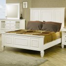 201301 Sandy Beach Classic Queen High Headboard Bed in White Finish by Coaster