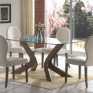 120361-62 San Vicente Glass Top 5pc Dining Set  by Coaster