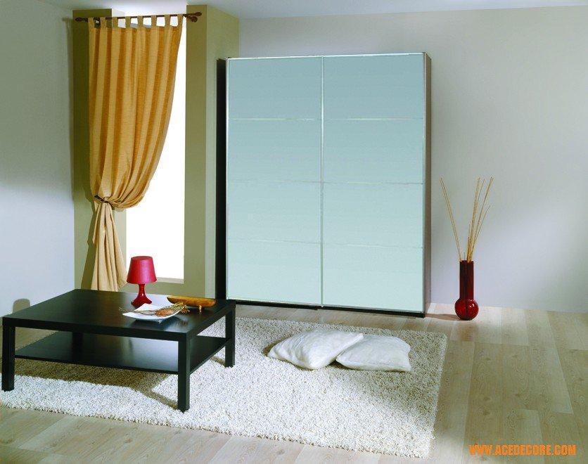 irbis modern mirror sliding door wardrobe gautier office furniture usa
