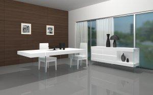 Cloud White Modern 5pc Dining Set