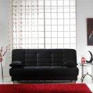 Vegas Black Microfiber Sofa Bed with Storage