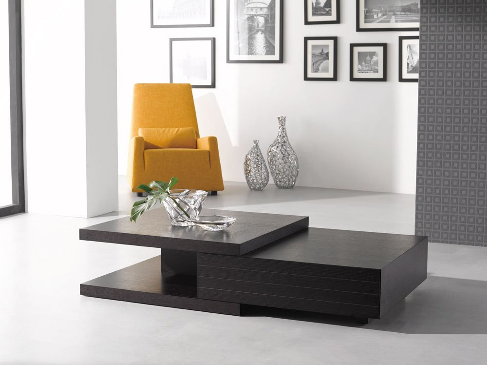 HK-19 Modern Wenge Finish Coffee Table