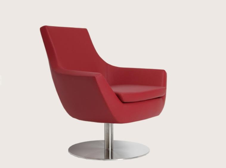 Rebecca Swivel Chair in PU Leatherette by BNT