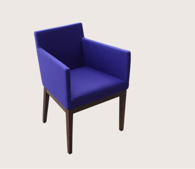 Harput Wood Lounge Chair in Wool Fabric by BNT