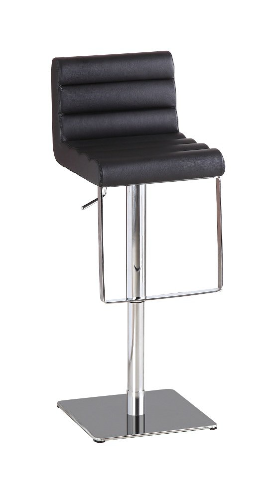 1923 Swivel Barstool in Black Leather Textil