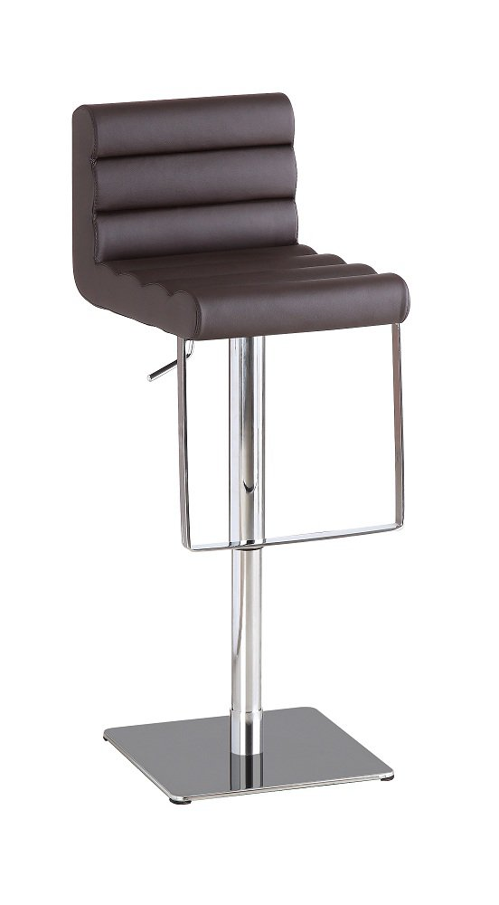 1923 Swivel Barstool in Brown Leather Textil
