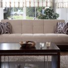 Polo Sofa Bed with Storage in Rubi Lt Brown