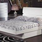 Aurora White Full Size  Platform Bed by Global